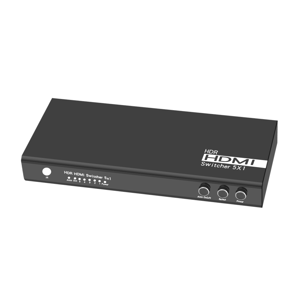 VK-S5 HDR HDMI 2.0 Switch 5x1 with auto on/off