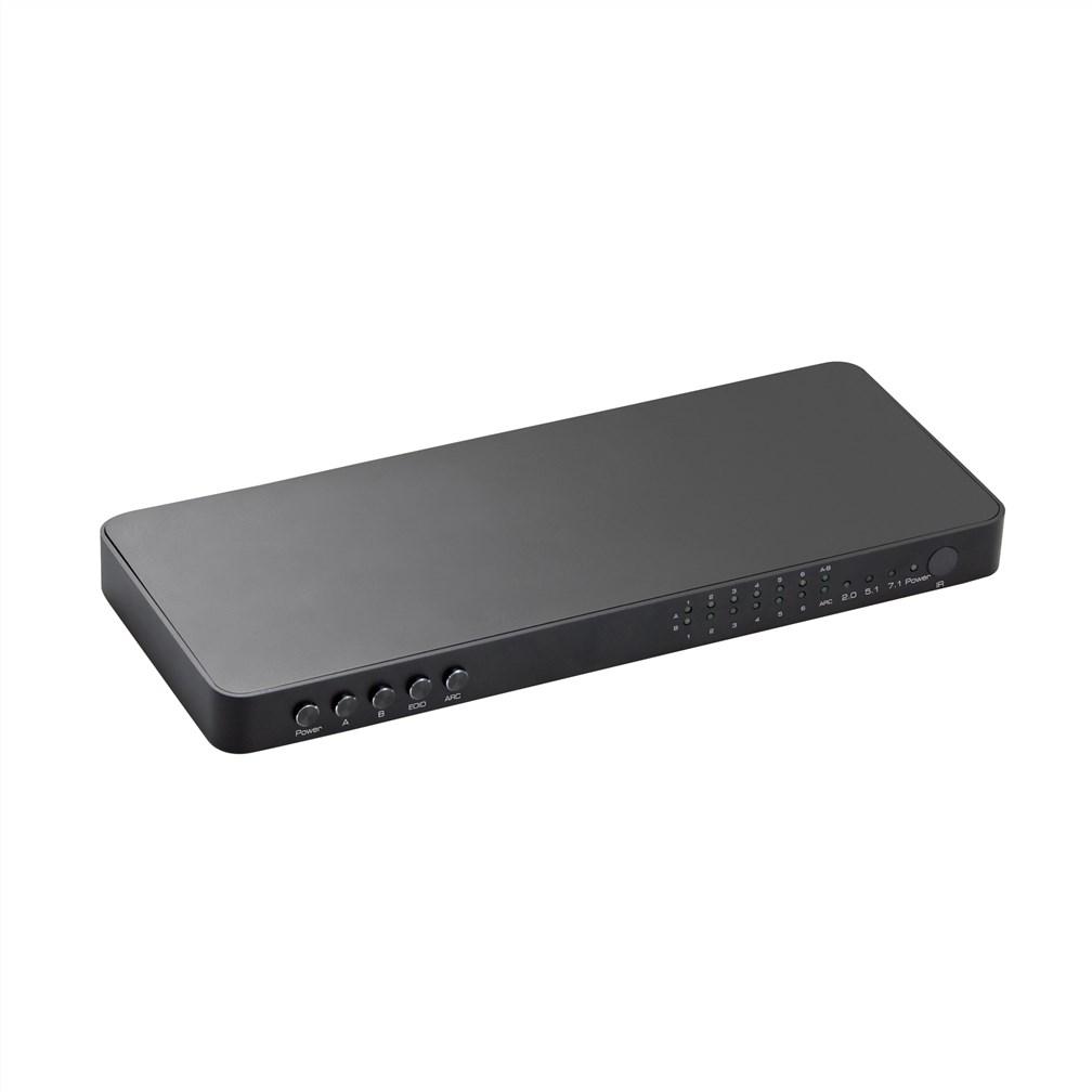 VK-K6 18G HDR HDMI 2.0 Matrix 6×2 with audio+ARC